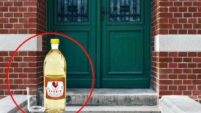 A pus un pahar cu oțet lângă ușa de la intrare și a așteptat câteva ore. Ce a observat apoi