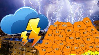 Furtună puternică în București și în împrejurimi. Pompierii au fost chemați să intervină. Ce incidente s-au înregistrat. FOTO
