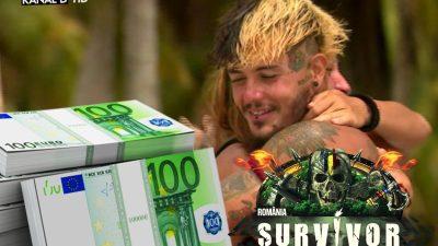 Câti bani a câștigat Zanni, de fapt, la Survivor România, pe lângă premiul de 50.000 de euro. Suma e fabuloasă