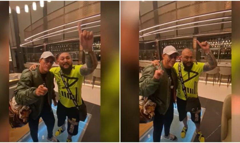 Ce au făcut Van Damme și Dani Mocanu într-un hotel din București. Imaginile s-au viralizat instant