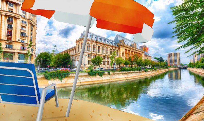 Locul din București unde poți face plajă la liber. Ai voie cu șezlongul de acasă, fix ca pe litoralul românesc