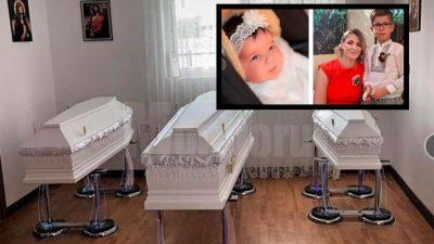 Mama și cei doi copilași morți în tragicul accident din Bacău au ajuns acasă în sicrie. Decizia fără precedent a Primăriei Suceava
