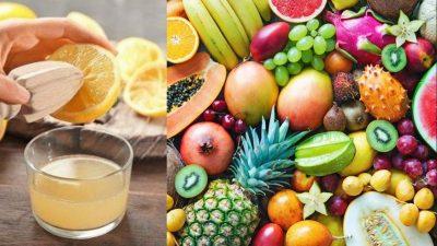 A pus zeamă de lămâie și apă peste legumele și fructele de la piață. Trucul e genial și sănătos