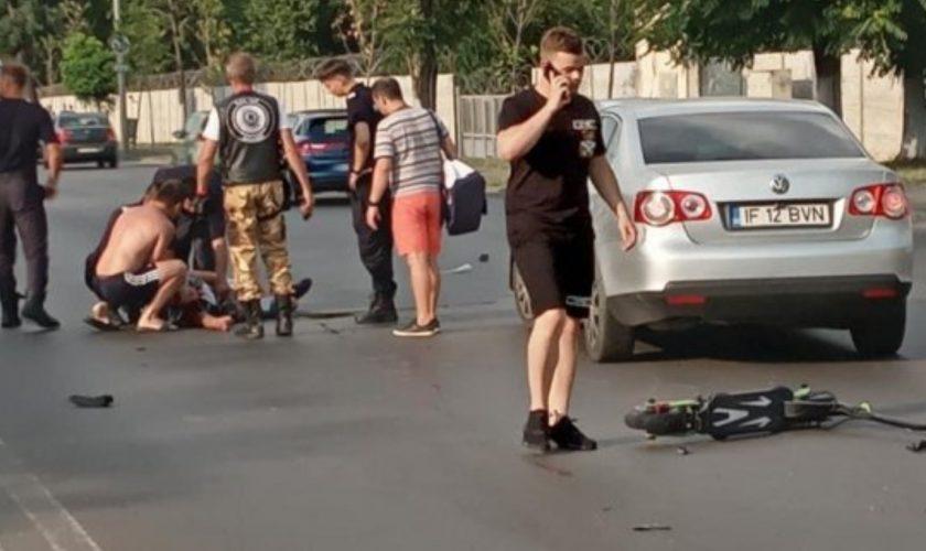 Au apărut primele imagini de la șicanarea în trafic din București, când un tânăr aflat pe trotinetă a decedat