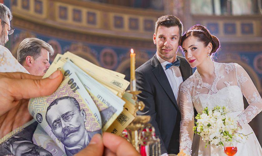 Cea mai scumpă biserică din București pentru nuntă. Câți bani trebuie să plătească mirii, deși suma de pe chitanță e mult mai mică