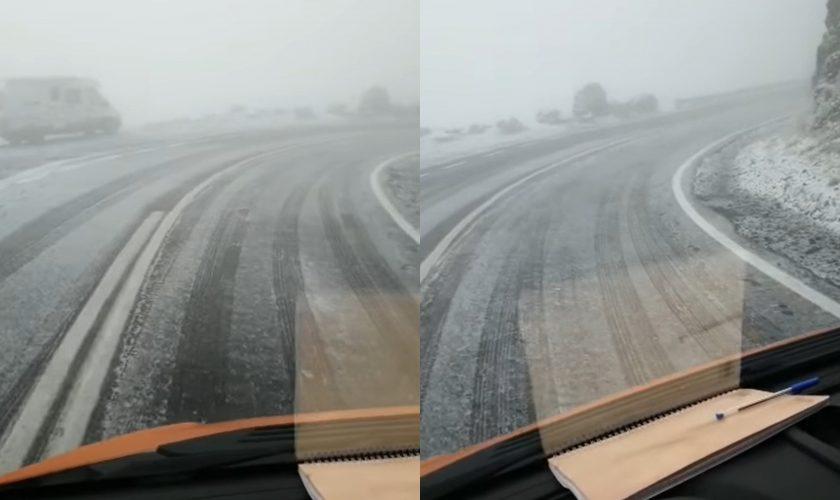 A nins în România deja! Unde s-a depus un strat subțire de zăpadă VIDEO