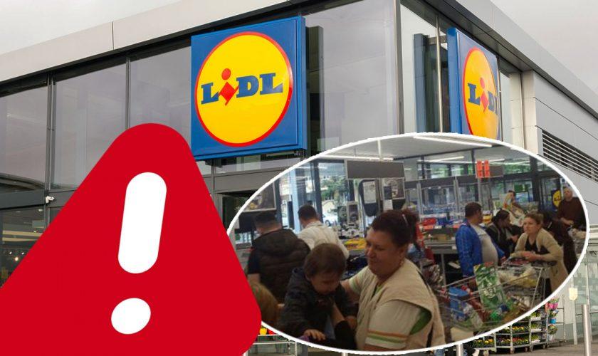 Panică uriașă la Lidl. Clienții și angajații au fost evacuați de două ori din magazin, ce s-a întâmplat