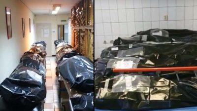 Imagini înfiorătoare de la morga Spitalului Universitar din Capitală. Cadrele medicale solicită disperate saci suplimentari pentru cadavre
