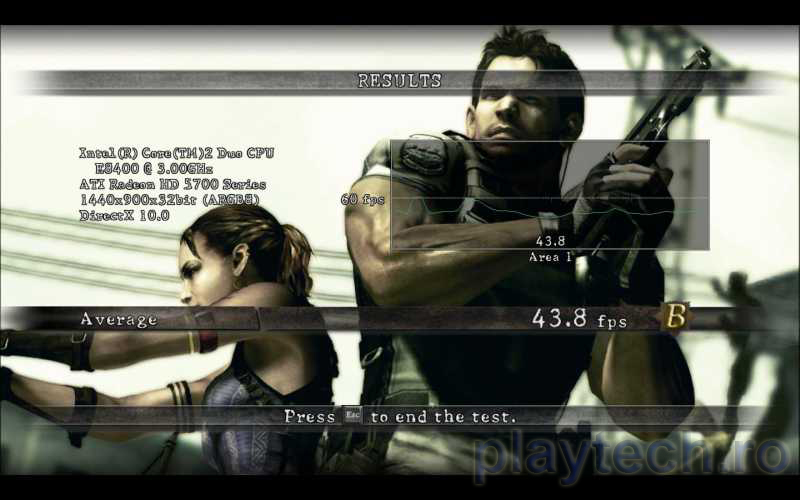RE5: Fixed Benchmark 5750-Rezoluție 1440x900, MSAA 8x