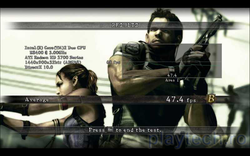 RE5: Fixed Benchmark 5750-Rezoluție 1440x900, MSAA 0x