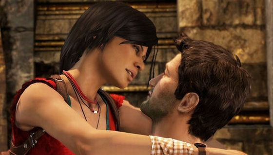 Chloe și Drake din Uncharted 2: Among Thieves
