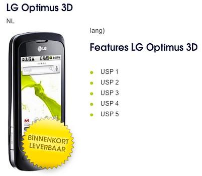 LG 3D Optimus, asteptat la Mobile World Congress