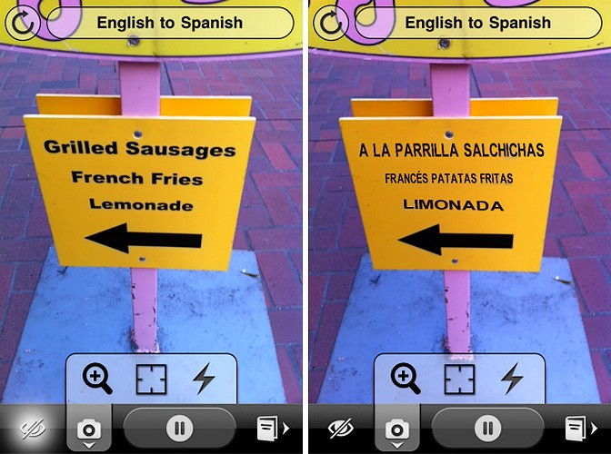 Word Lens – Traducere prin realitate augumentativa pe iPhone 3GS, iPhone 4 sau iPod Touch 4G