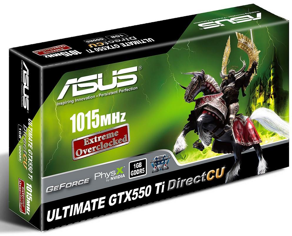 ASUS a lansat placile grafice GTX550 Ti DirectCU Ultimate