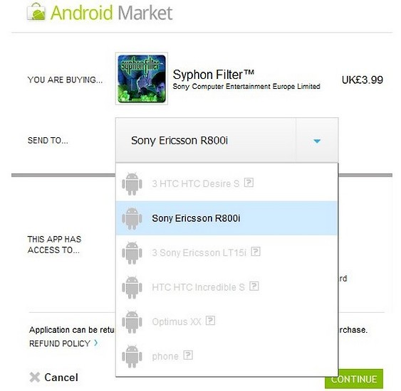 Xperia Play Android Market, Xperia Play, Sonyy Ericsson Xperia Play