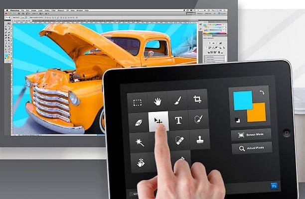 Adobe Photoshop imbratiseaza iPad-ul ca ecran suplimentar