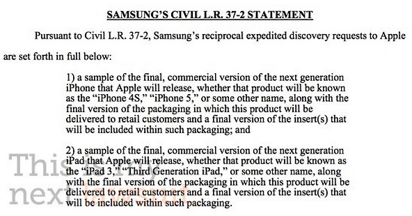 Proces Apple Samsung, Apple Samsung