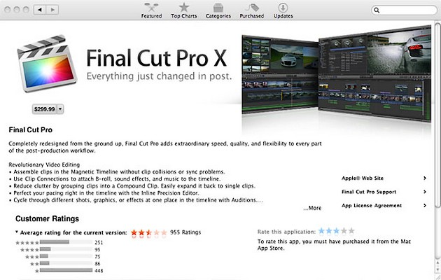 Apple Final Cut Pro X, Final Cut Pro X