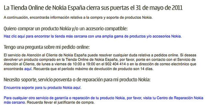 Nokia online, Nokia