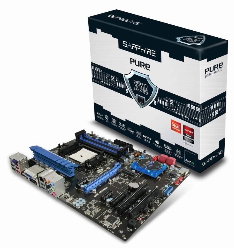 Sapphire Pure Platinum A75 – Noi placi de baza pentru APU-urile AMD