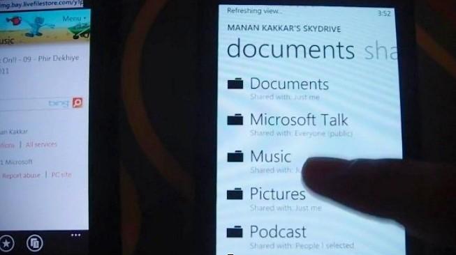 Microsoft SkyDrive, wp7 SkyDrive, SkyDrive