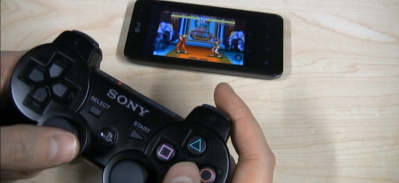 Gaming pe Android cu gamepad de PS3