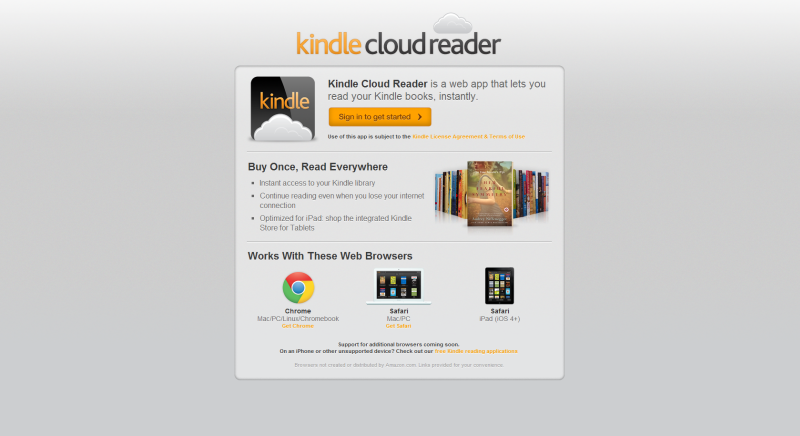 Amazon muta Kindle in Cloud