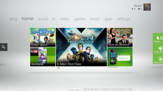 Xbox Live inclus in Windows 8