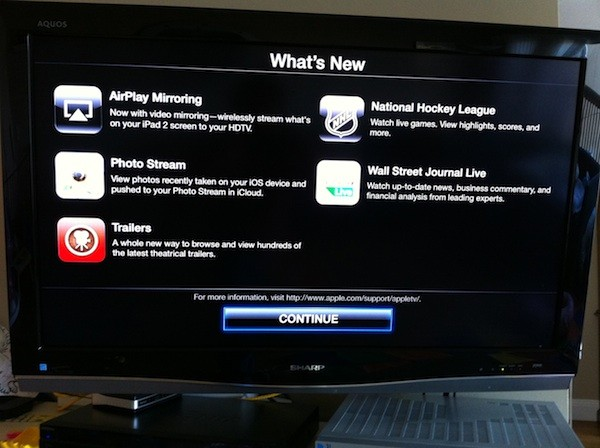 Si Apple TV 2G primeste un update: 4.4