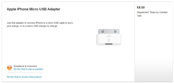 Apple trece pe Micro USB, mai creeaza un adaptor