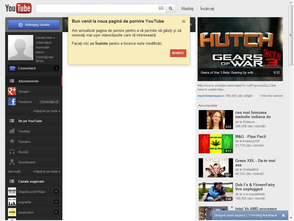 Schimbarea la fata a YouTube