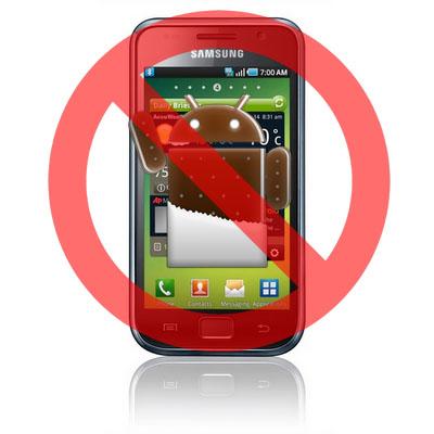 Samsung Galaxy S nu va primi Android Ice Cream Sandwich