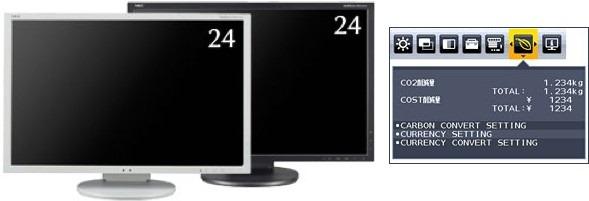 NEC iti spune cat costa, si cat CO2 genereaza, curentul electric utilizat de noul tau monitor