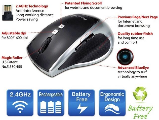 Genius DX-Eco, mouse-ul minune cu incarcare in 3 minute