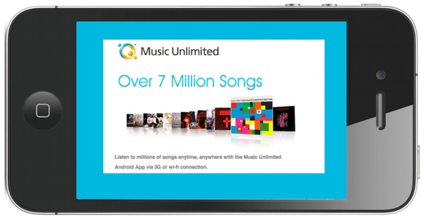 Sony Music Unlimited vine in curand si pe iOS