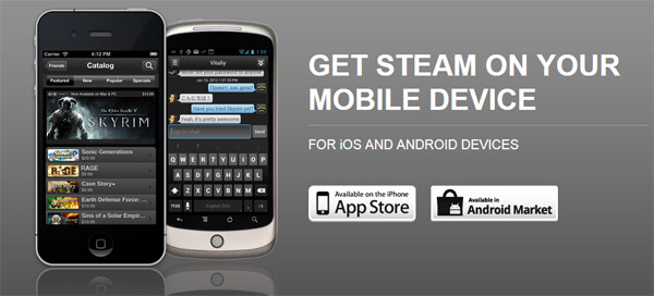 Steam are aplicatie de mobile, momentan in Closed Beta