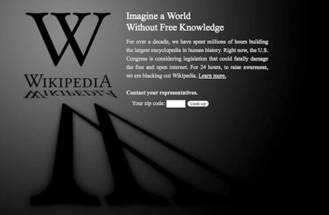 wikipedia anti-SOPA