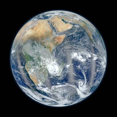 NASA a publicat o noua imagine spectaculoasa din seria Blue Marble