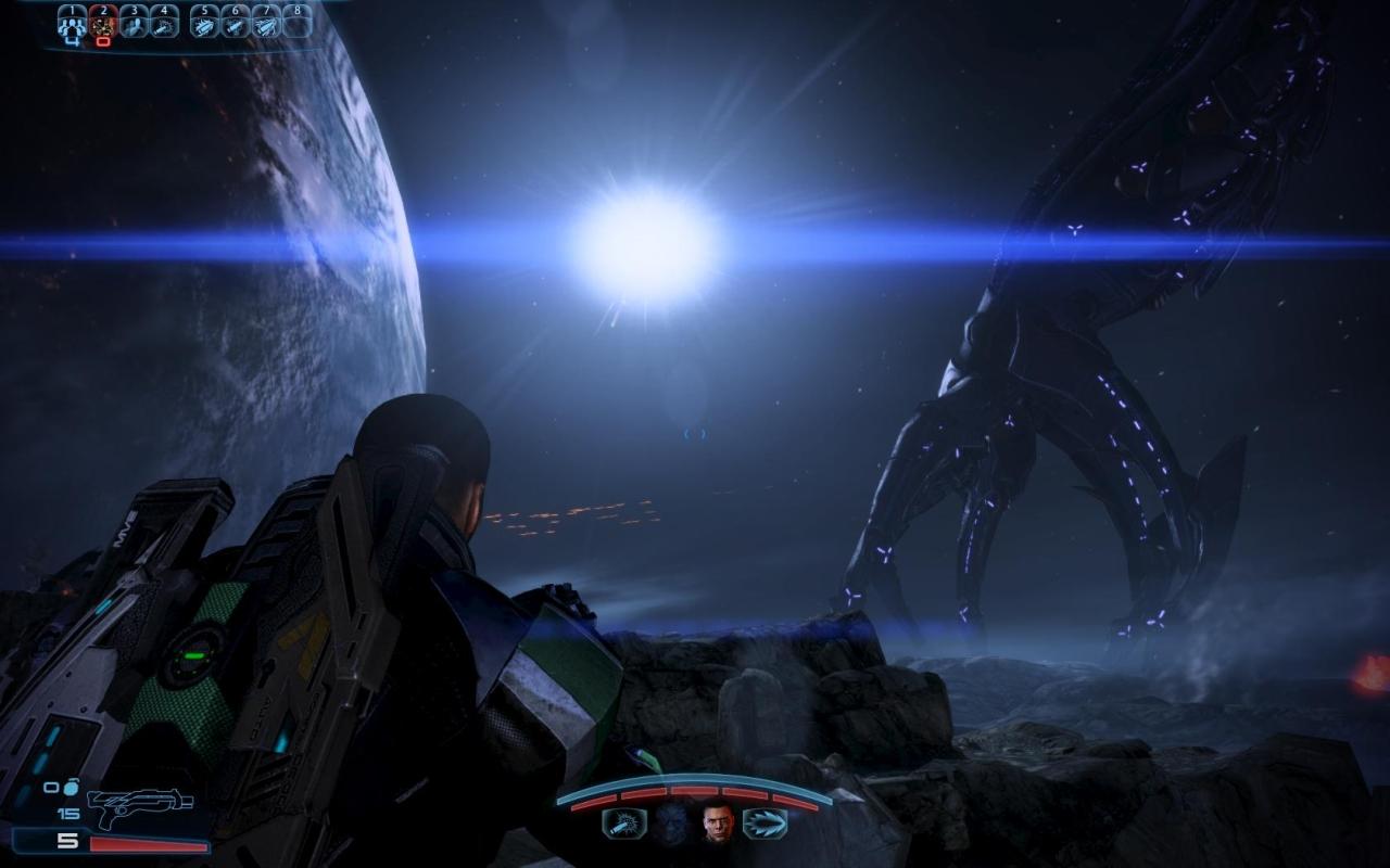 Mass Effect 3 battle scene