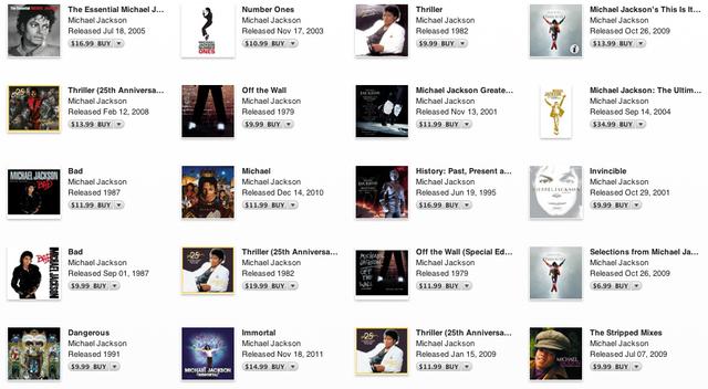 Intreaga colectie Michael Jackson se pare ca a fost furata anul trecut de la SONY