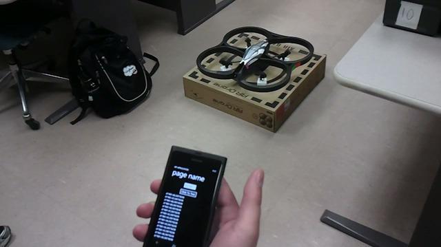 AR.Drone pe Windows Phone – nu prea bine, nici prea complet…