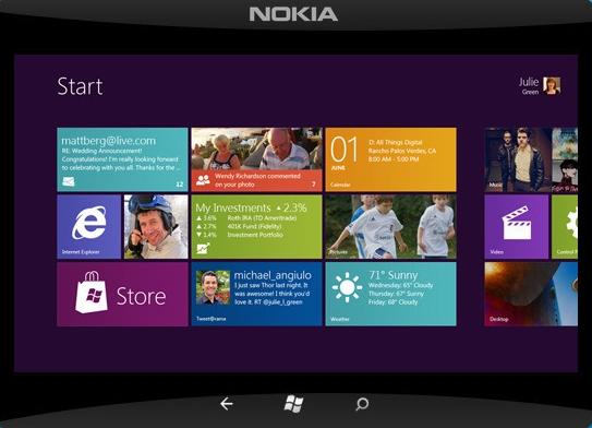Nokia Lumia Tab cu Windows 8 la sfarsitul lui 2012?