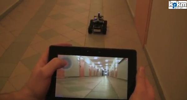 Si PlayBook-ul poate sa vada prin ochii unui robot