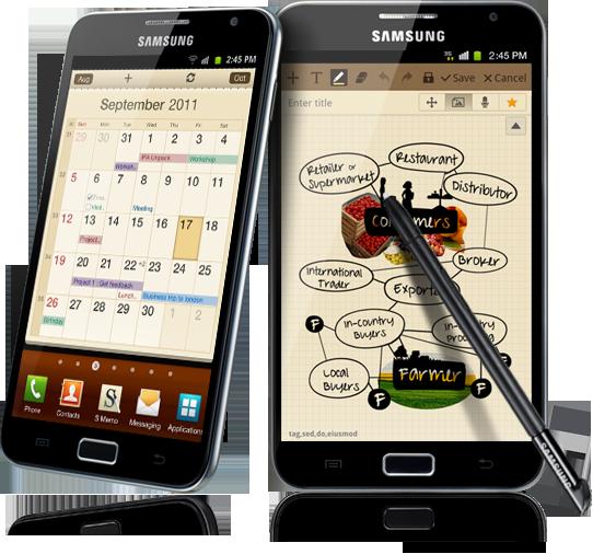 Ice Cream Sandwich vine cu intarzaiere pe Galaxy Note