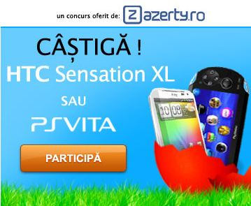Surpriza de Pasti: HTC Sensation XL sau PS Vita?