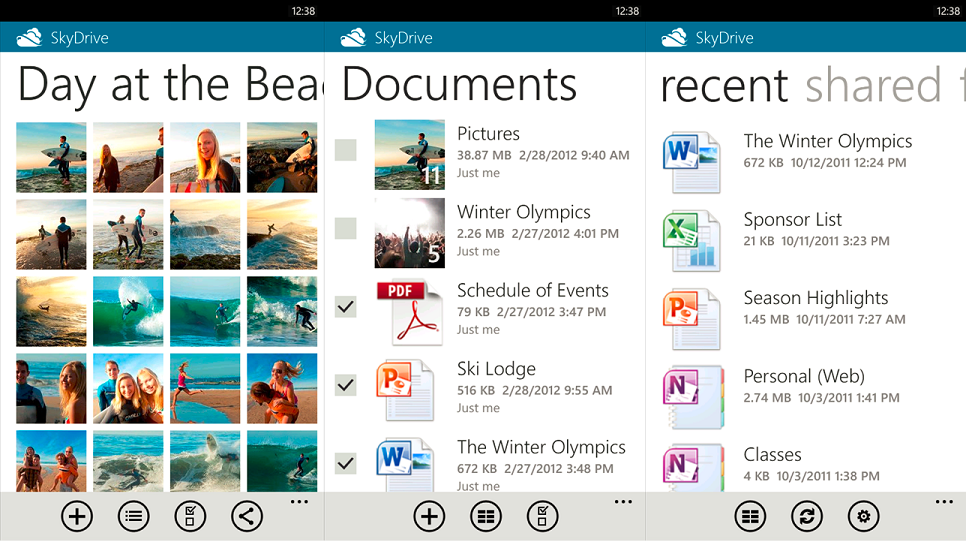 skydrive 2.0 for windows phone 7