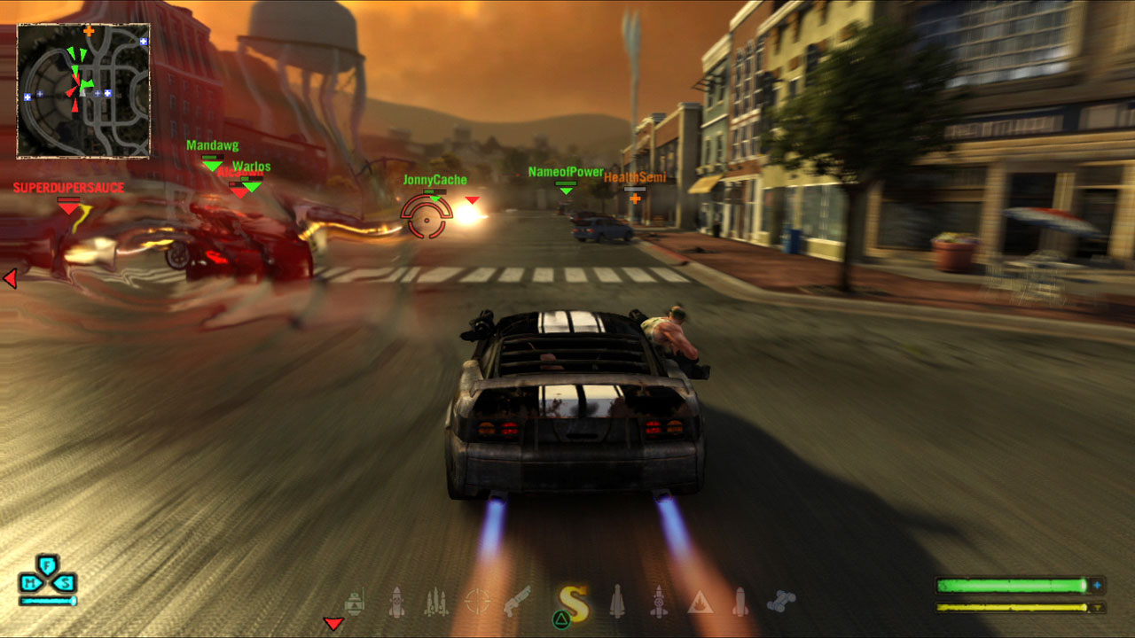 Twisted Metal Gameplay car