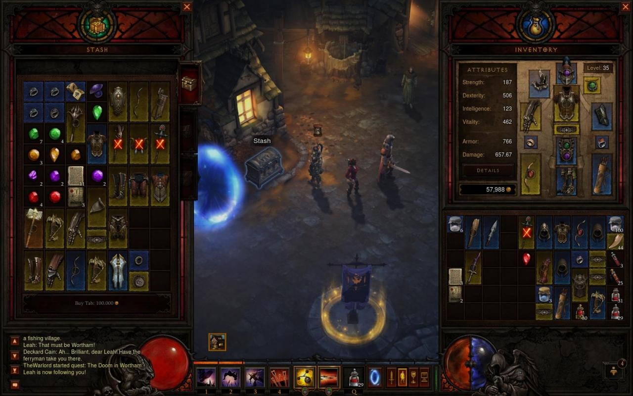 Diablo III inventory