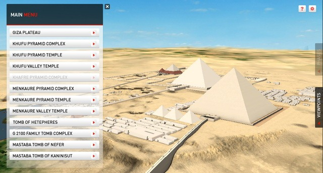 Piramidele de la Giza pot fi explorate online in 3D