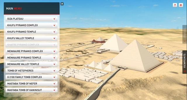 Piramidele de la Giza pot fi explorate online in 3D